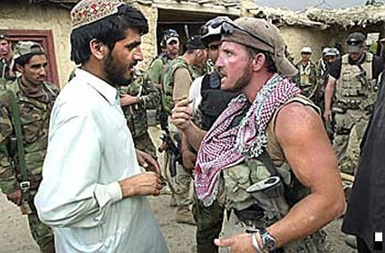 US Special Forces and Afghan Militia Force mercenaries confront ...